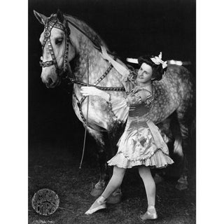 Late 18th-C. Circus Girl & Horse Photography