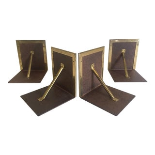Vintage Brass Architectural Style Bookends - Set of 4
