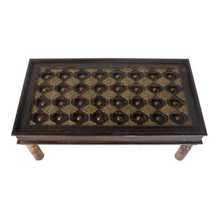 Handmade Indian Rajasthani Teak Coffee Table