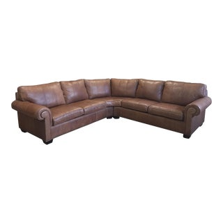 Bernhardt Essex Leather Sectional