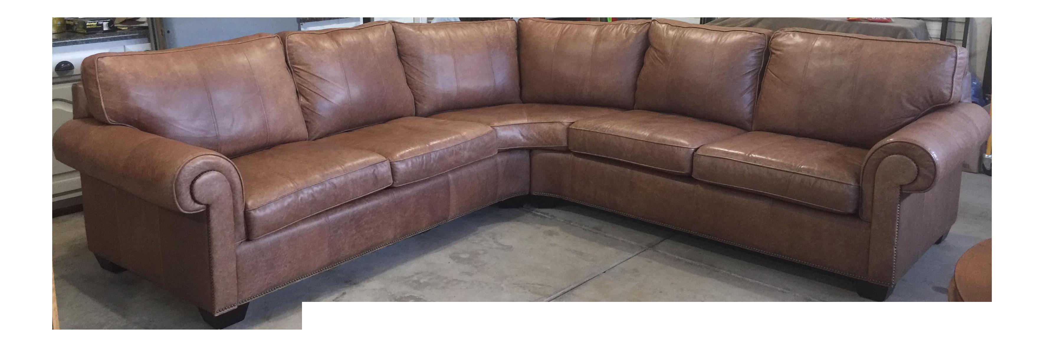 Bernhardt Essex Leather Sectional  sc 1 st  Chairish : bernhardt leather sectional - Sectionals, Sofas & Couches
