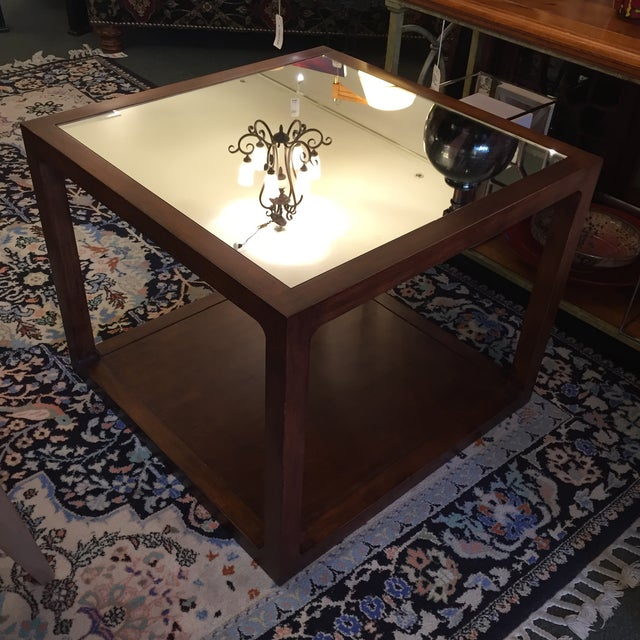 Custom Mirror Topped Side Table - Image 6 of 9