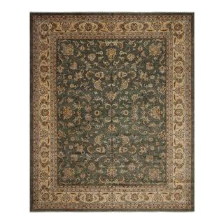 Istanbul Green & Tan Wool Rug - 12'2 X 15'0