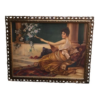 Antique Oil on Fabrique Painting