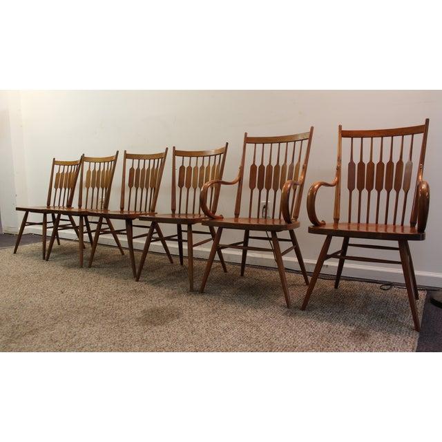 Kipp Stewart Paddle Back Chairs - Set of 6 - Image 3 of 11