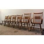 Image of Kipp Stewart Paddle Back Chairs - Set of 6