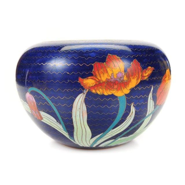 Japanese Antique Blue Cloisonne Vase - Image 1 of 7