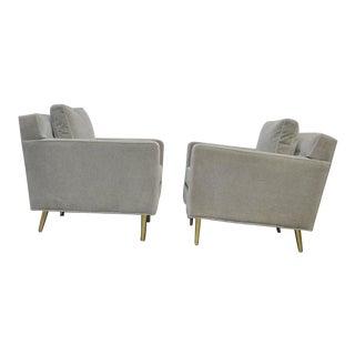 Dunbar Brass Leg Lounge Chairs by Edward Wormley