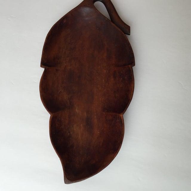 Wood Palm Leaf Platter - Image 4 of 9