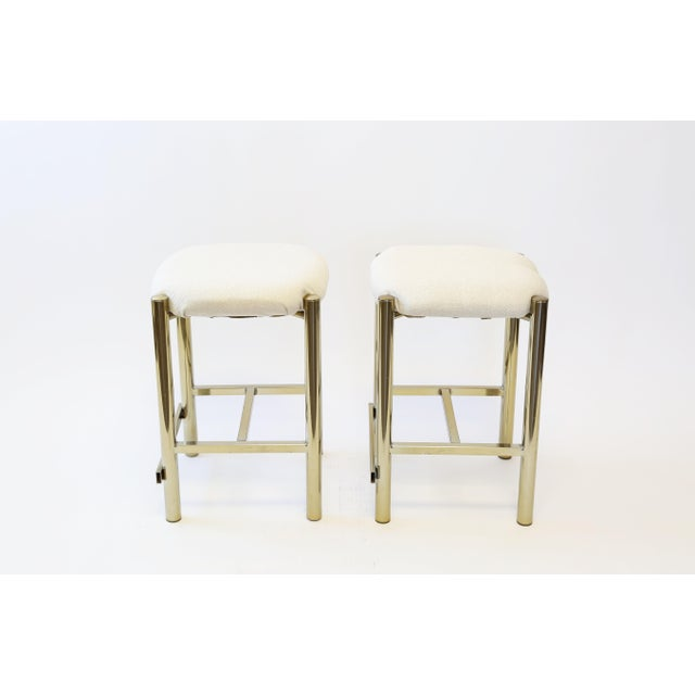 Vintage Cal-Syle Brass Bar Stools - A Pair - Image 6 of 7