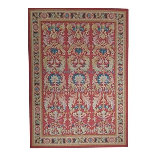 "Pasargad Aubusson Hand Woven Wool Rug - 10'11"" x 16' 3"""