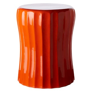 Selamat Designs Gemma Cinch Orange Crush Lacquer Spot Table