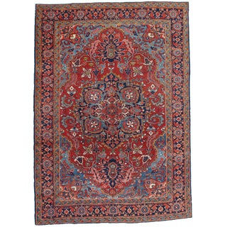 "Pasargad NY Antique Persian Heriz Area Rug - 6'6"" x 9'2"""