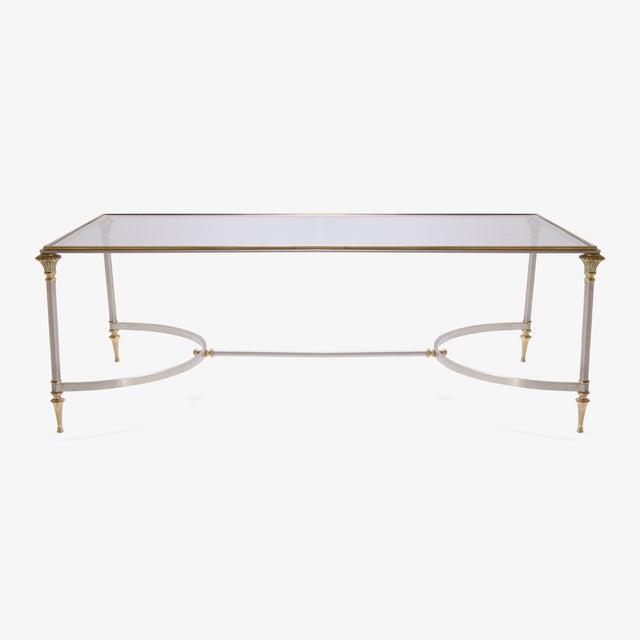 Maison Jansen Style Brass & Steel Cocktail Table - Image 2 of 7