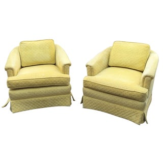 J.H. Biggar Club Chairs on Casters - Pair