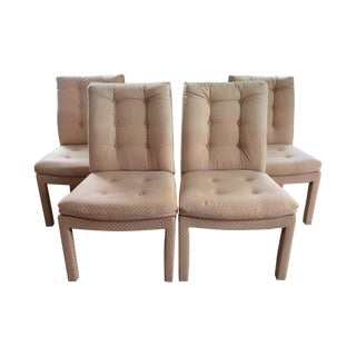 Upholstered Parson's Dining Chairs - Set of 4