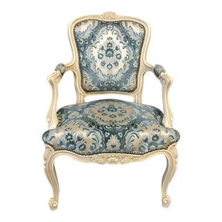 French Painted Arm Chair