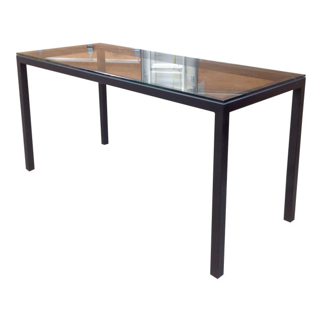 Room & Board Counter Height Steel Parsons Table - Image 1 of 4