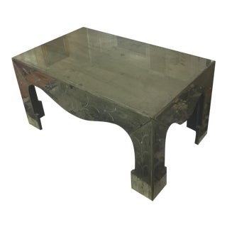 Chinoiserie Style Distressed Mirror Table