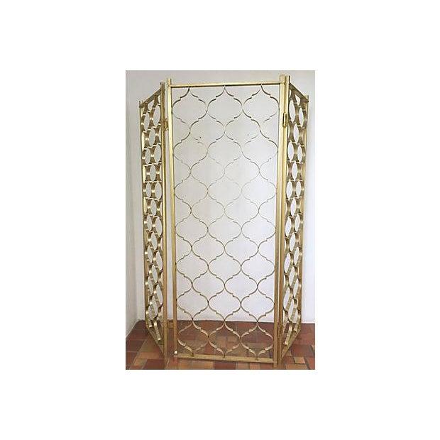 Mid-Century 3 Panel Gold Aluminum Divider - Image 7 of 7