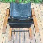 Image of Sirocco Safari Black Vinyl & Leather Arms Chair