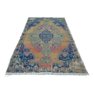 Antique Turkish Oushak Rug - 5′ × 8′