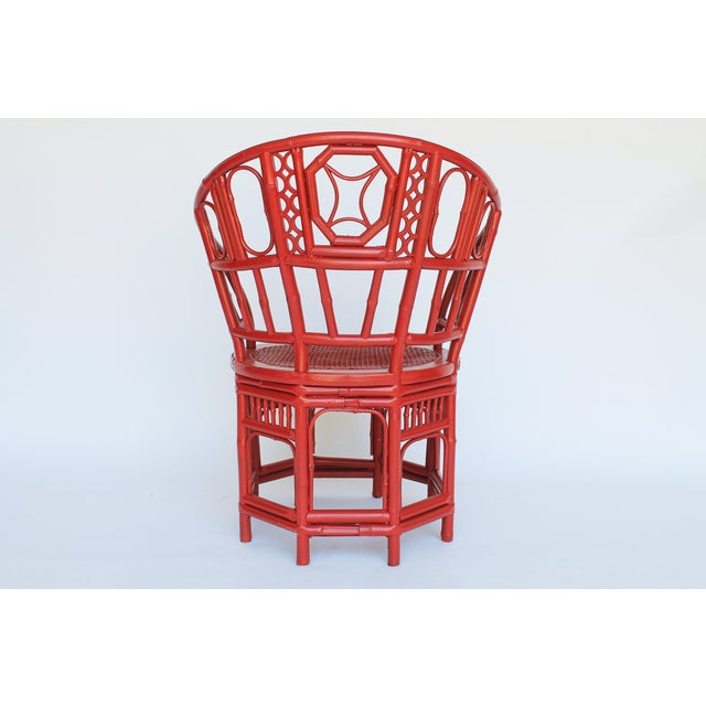 Bamboo Accent Chair W/ Nautical Theme - Image 8 of 9