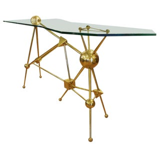 Limited Edition Italian Brass Console By Fedele Papagni for Gaspare Asaro