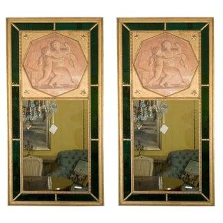 Directoire Style Jansen Trumeau Mirrors - A Pair
