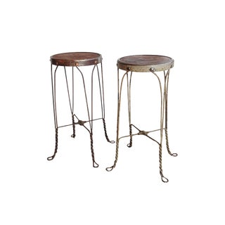 Vintage Wire Ice Cream Stools - A Pair