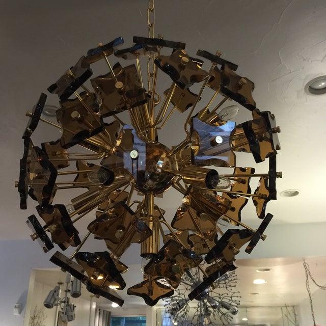 Fontana Arte Sputnik Chandelier Bronze Glass - Image 5 of 8