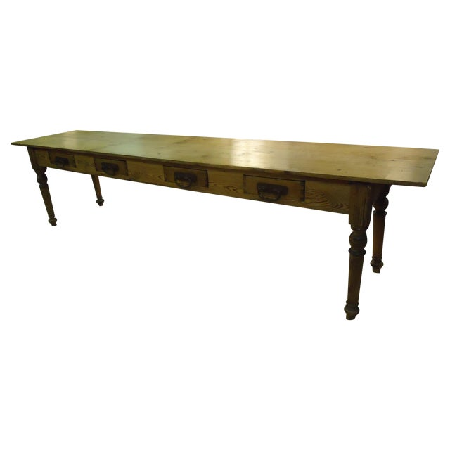 Knotty Pine Harvest Table Chairish