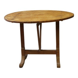 French Tilt Top Wine Tasting Table