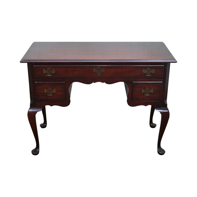 Image of Kindel Vintage 1940s Mahogany Queen Anne Desk