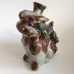 Image of Vintage Pottery Foo Dog Lion Decanter Vase