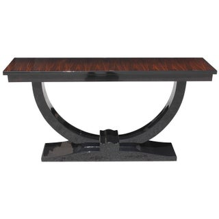 French Art Deco Macassar Ebony Console Table