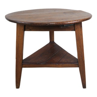 19th C English Pine Cricket Table