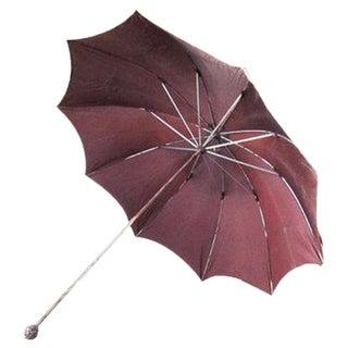 Vintage Purple Parasol Umbrella, 1950's