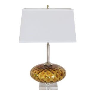 Vintage Italian Murano Gold Mercury Faceted Lamp