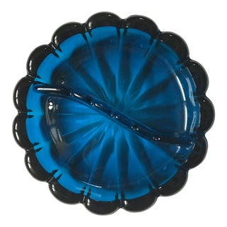 1970's Cobalt Blue Viking Glass Ashtray