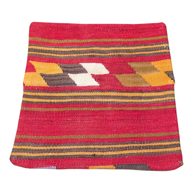 Image of Vintage Kilim Pillow in Red & Gold