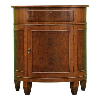 English Demilune Cabinet