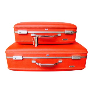 American Tourister Samsonite Red Suitcases 2