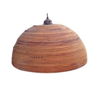 Vintage Bent Bamboo Hanging Pendant Lamp