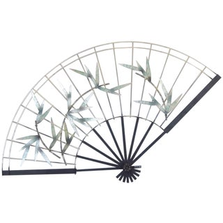 Curtis Jere Vintage 1987 Bamboo Fan Wall Art