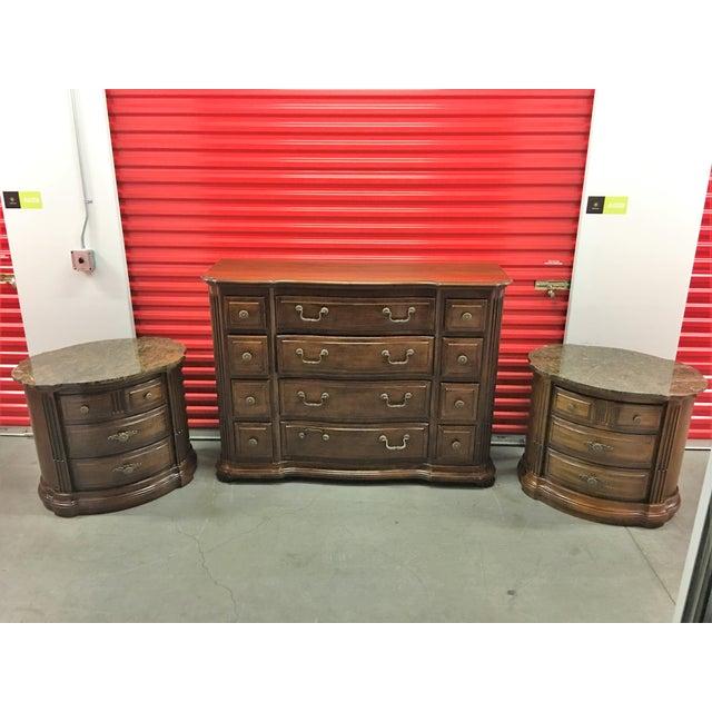 Solid Dark Wood Dresser with Mirror - Image 7 of 7