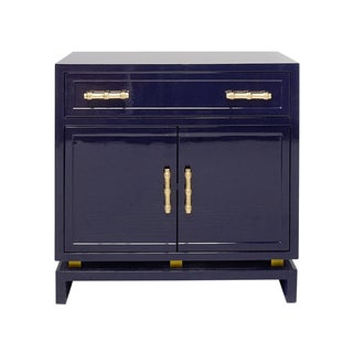 Navy Lacquered Cabinet