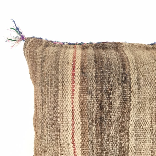 Image of Moroccan Berber Vintage Kilim Wool Pillow