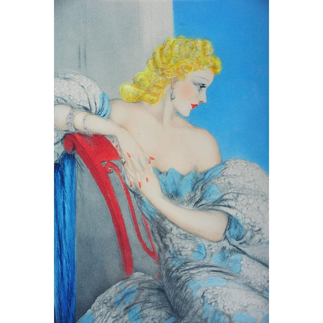 """Symphony in Blue"" Etching by Louis Icart - Image 5 of 9"