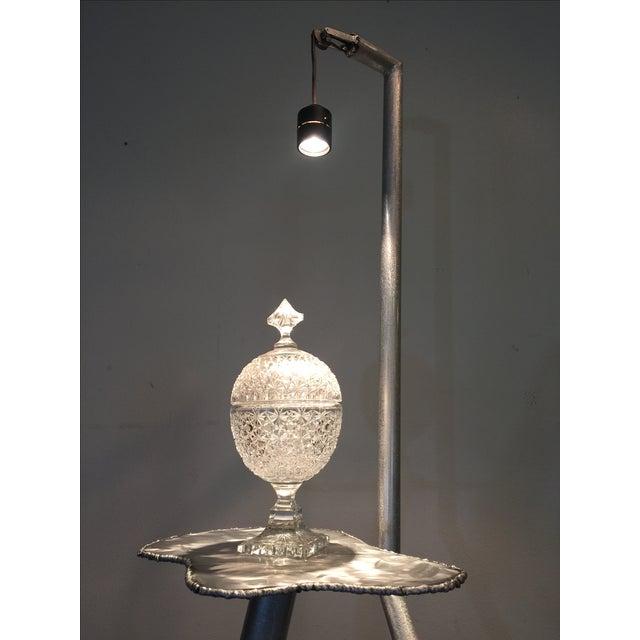 Brushed Steel Illuminated Art Pedestal - Image 10 of 11